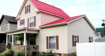 Red Standing Seam metal Roofing